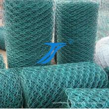 Malla de alambre hexagonal recubierta de PVC para Gabion