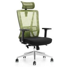 chaise de direction à dossier haut / en maille chaise ergonomique à base en aluminium