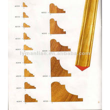 AE1818 molduras de madera de teca de diseño de esquina