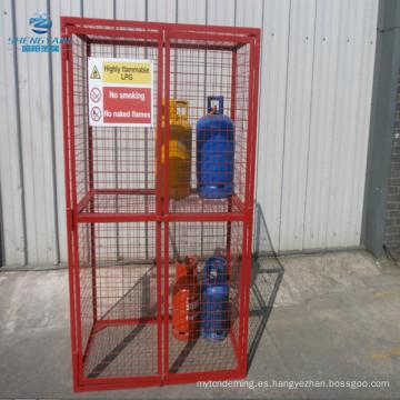 jaula de almacenamiento de botellas de gas de alta calidad completamente soldado con estante extraíble