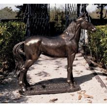 Hochwertige bronze pferd lebensgroße statue für garten dekoration