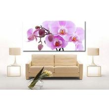 Imagen de flor rosa impreso en lona para la decoración