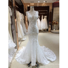 Русалка Труба V Шеи Реальный Образец Свадебное Платье