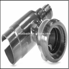 Aço inoxidável prateado cnc usinagem / 24k ouro banhado peças de aço inoxidável / cnc peças de aço inoxidável fabricante
