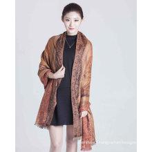 50%Silk 50%Wool Print Scarf