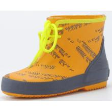 Colored Children Lace Rubber Boots