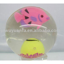 75mm Fish Light Flash Glitter Led Bounce Ball