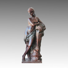 Бронзовая скульптура, статуэтка Леди Фаундейшн, Мило Тплс-009
