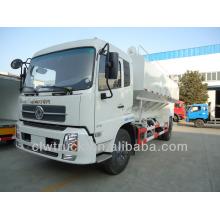 high efficient dongfeng 15m3 bulk feed truck, 4x2 bulk feed discharge truck