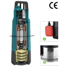 High Pressure Big Flow Multistage Impeller Garden Submersible Pump with Float Switch Ce UL Certificate.