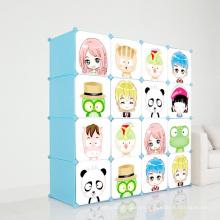 Armarios plásticos del guardarropa de los niños de DIY para el hogar (ZH001)