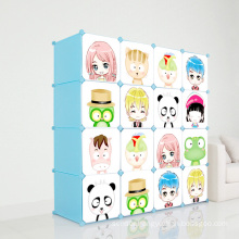 DIY Plastic Children Wardrobe Cabinets for Home (ZH001)