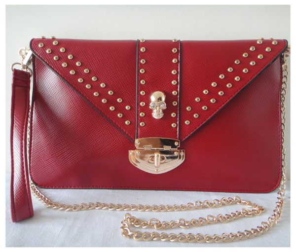Red Clutch Wallet
