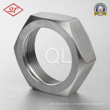 Санитарно-гигиеническая установка для крепления фаски из нержавеющей стали шестигранная гайка (3A)