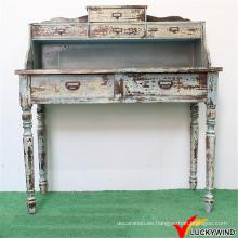 Handmade interior de madera apenada tallada mesa consola