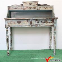 Table à console sculptée en bois à l'intérieur et décorée à la main