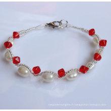 Bracelet à perles naturelles à la mode et bon marché à la mode (EB1512-1)