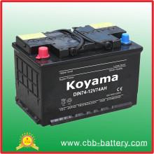 74ah 12V européenne Standard Vehicle Battery / Accumulater