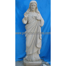 Estatua de mármol de piedra Escultura religiosa de Jesús para la religión (SY-X1708)