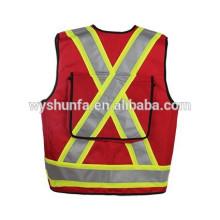Coletes reflexivos de alta visibilidade CSA Z96-09 norma 100% poliéster tricot tecido