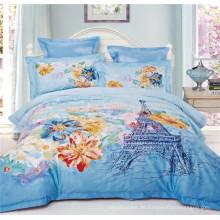 Paris Eiffelturm Romantisches Design 100% Baumwolle Bettwäsche Bettbezug Bettwäsche Set
