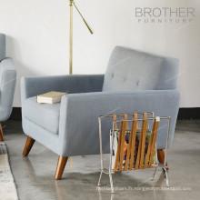 Canapé en bois de tissu de tapisserie d'ameublement de design moderne de style américain