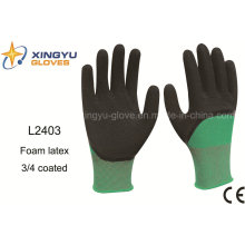 Polyester Shell Foam Latex 3/4 Coated Safety Work Glove (L2403)