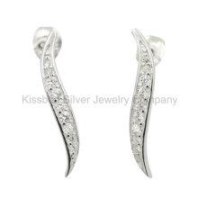 Moda jóias de prata 925, brincos de parafuso prisioneiro (ke3081)
