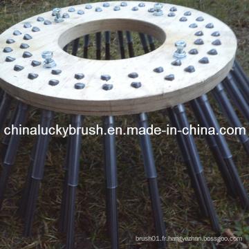 Chine Fabrication PP Matériau Brosse à bois en bois (YY-004)