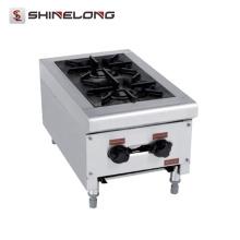 K219 Kitchen Equipment Fogão a gás de aço inoxidável a 2 queimadores