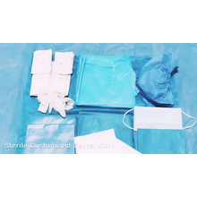 Kit de pack chirurgical dentaire stérile jetable personnalisé