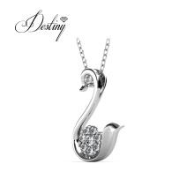 Animal Jewelry Bird Swan Love Pendant Necklace for Women