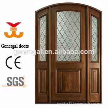 Solid wood exterior villa door