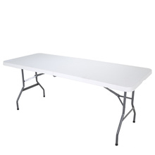 Modern designs low price HDPE plastic folding camp table for outdoor activity