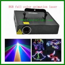 Kuasa tinggi DJ peralatan 2W RGB animasi Laser pencahayaan
