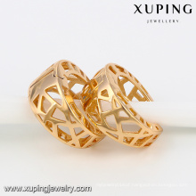 91891 Xuping 18k plated copper alloy hoop earring without zircon