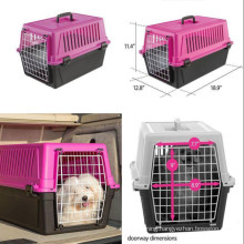 pink pet cat puppy carrier travel cage crate portable 19 inch small dog kennel