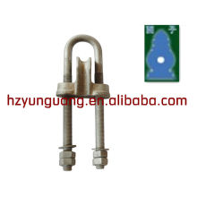 NUT wedge type pulling line clamp(adjustable type)/guy wire fitting/electric power line fitting