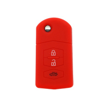 Hot silicone selling car key case for Mazda