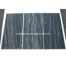 Chinese Black Marble Tile Antique Wood Vein Marble