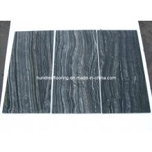 Китайская черная мраморная плитка Античная древесина Вена Мрамор