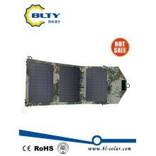 Army Green Colour 10.5W Foldable Solar Panel Charger Pack
