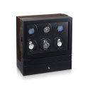 Multi-rotors Wooden Watch Winder For 6 Watches