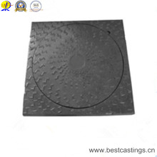 Ductile Iron Round Cover Square Frame