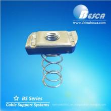 Tuerca de resorte con canal de puntal (UL, cUL, NEMA, IEC, CE, ISO)
