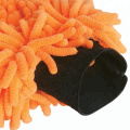 2018 New Style Chenille Car Washing Mitt Towel Glove - ORANGE