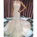 Gros corée style grande queue fleur floral blanc couleur perles dentelle luxe robe de mariée