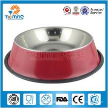 tazón de fuente de perro de mascota doble antideslizante producto de mascota tazón de fuente de perro de acero inoxidable