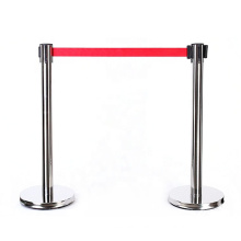 Public isolation and security to Folding Hotel Railing Crowd Control Barrier Stanchion, Stainless Steel Belt/