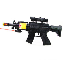 Kids Plastic Infrared Electric Gun Toy with Flashing